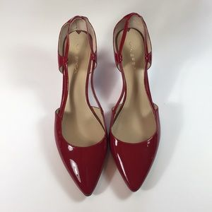 Via Spiga Red Patent Leather Pumps, Size 12